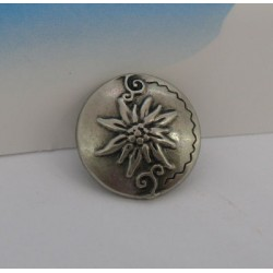 Bouton edelweiss 15mm