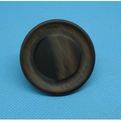 Bouton imitation corne marron 45mm