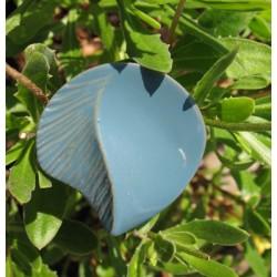 Bouton relief gris bleu 36mm
