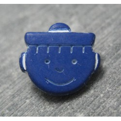 Bouton marin bleu fonçé 15mm