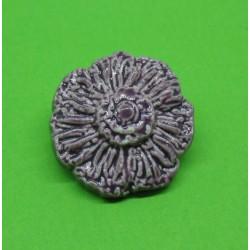 Bouton fleur émaillée violet 18mm