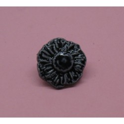 Bouton fleur émaillée marine 25mm