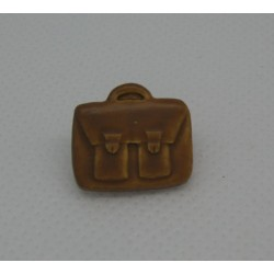 Bouton cartable marron clair 16mm