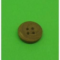 Bouton buis 4t marron clair 15mm