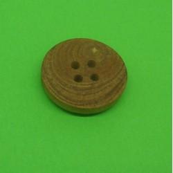 Bouton buis 4t marron clair 20mm