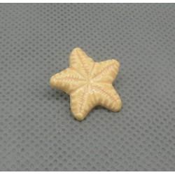 Bouton étoile de mer verni pèche 18mm