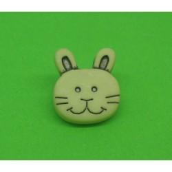 Bouton lapin ivoire 14mm