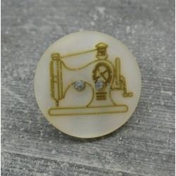 Bouton machine à coudre doré 20mm