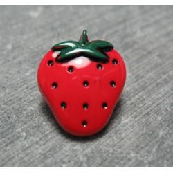 Bouton fraise rouge vert 18mm
