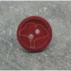 Bouton buis ginkgo biloba bordeaux 15mm