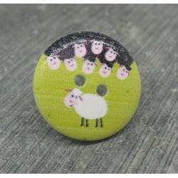 Bouton mouton blanc 20mm