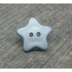 Bouton étoile bleu 15mm