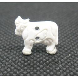 Bouton vache blanche 15mm