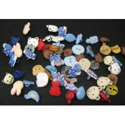 Lot 60 boutons animaux