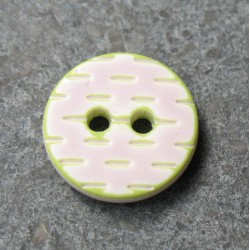 Bouton pointillé parme anis 12mm