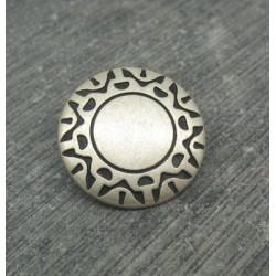 Bouton incas vieil argent 18mm