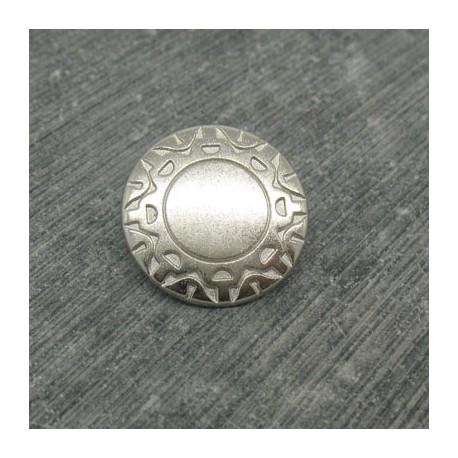 Bouton incas argent 18mm