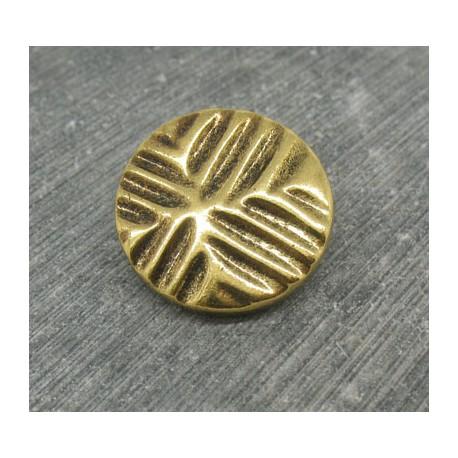 Bouton empreinte doré métallisé 22mm