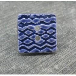 Bouton azulejo violet 17mm