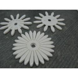 Base bijoux fleur blanche 45mm