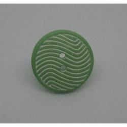 Bouton vague amande blanc 22mm