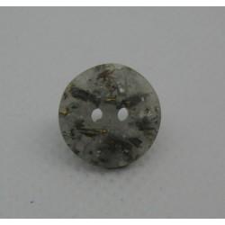 Bouton paillette marbre gris doré 13mm