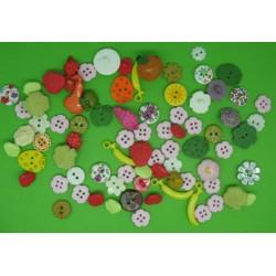 Lot 80 boutons fleur