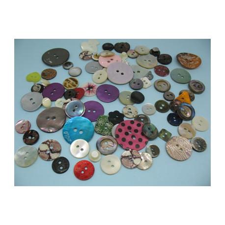 Lot 83 boutons nacre