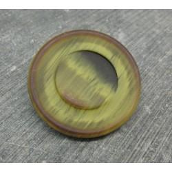 Bouton imitation corne jaune noir 34mm