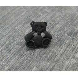 Bouton ourson noir 11mm