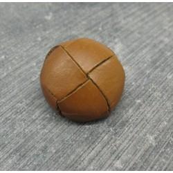 Bouton cuir marron clair 20mm