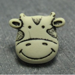 Bouton vache écru 15mm