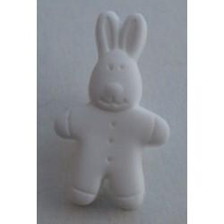 Bouton lapin blanc 18mm