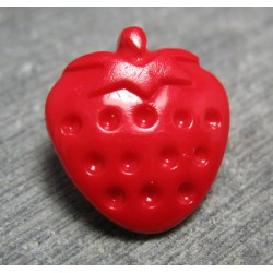 Bouton fraise rouge 17mm