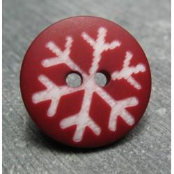 Bouton flocon rubis 18mm