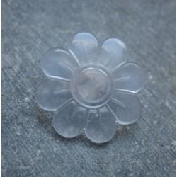 Bouton fleur transparent 22mm