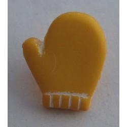 Bouton moufle jaune 12mm