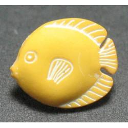 Bouton poisson discus jaune 13mm
