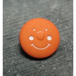 Bouton smile orange 15mm