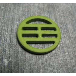 Bouton plaque verte 18mm