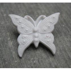 Bouton papillon gris 25mm