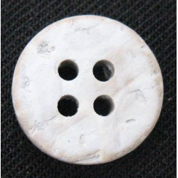Bouton coco blanchie 20mm