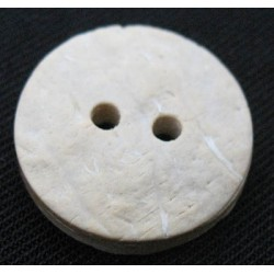 Bouton coco blanchie 18mm