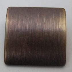 Bouton bouclier bronze brosse 23mm