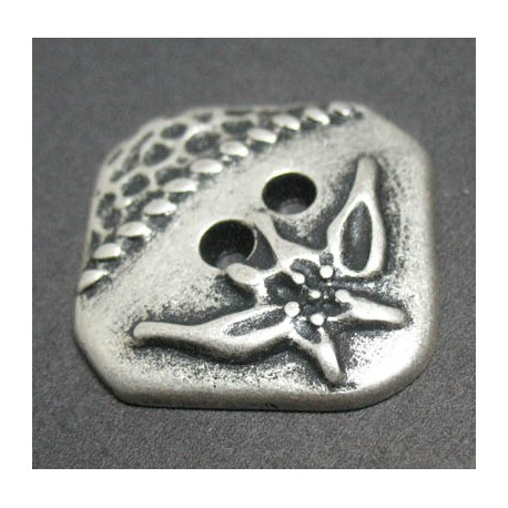 Bouton carre edelweiss 27 mm b10