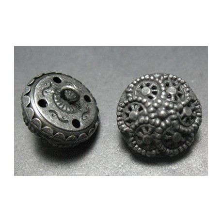 Bouton style Turquie vieil argent 14 mm b19