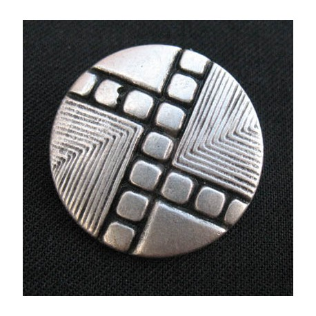 Bouton metal forme 25 mm b3