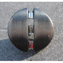 Bouton brossé argent 20 mm swaro b65