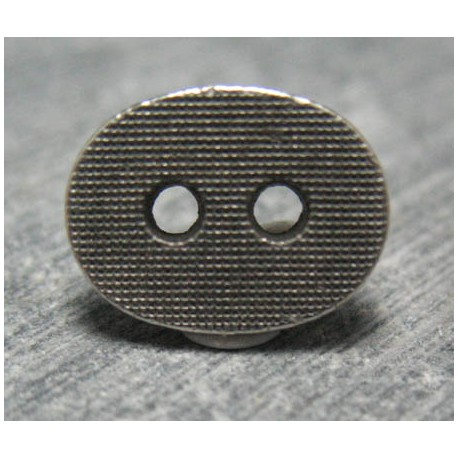 Bouton oval quadrillé 12 mm b49