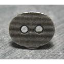 Bouton oval quadrillé 12 mm b49